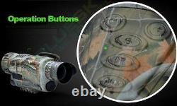 Top Infrared Night-Vision Monocular IR Scope 1.44 LCD Video Photo DVR Recorder