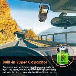 Vantrue S1 4K Dual Dash Cam Vehicle Cam Recorder, Built in GPS, Night Vision