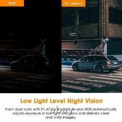 Vantrue S1 4K Dual Dash Cam Vehicle Recorder SUV Auto Built in GPS Night Vision
