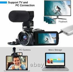 Video Camera Camcorder IR Night Vision HD 1080P Vlogging Camera Recorder 16X