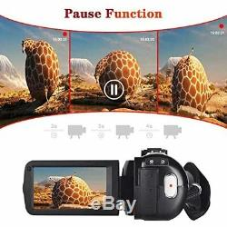 Video Camera Camcorder W Microphone Youtube Recorder 2.7K Ultra HD 20FPS 30.0MP