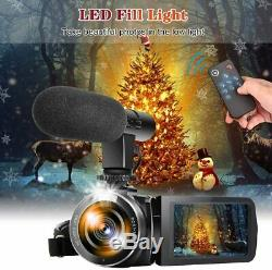 Video Camera Camcorder with Microphone YouTube Camera Recorder 2.7K Ultra HD