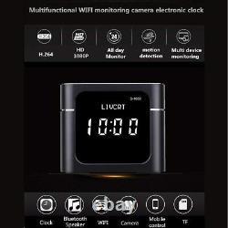 Video Recorder Camera Wireless Bluetooth Speaker Clock HD 1080 WiFi Night Vision
