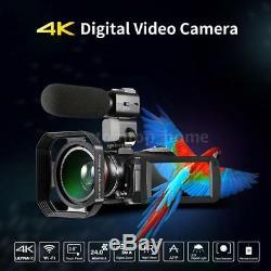 WiFi 4K UHD IR Night Vision Touchscreen Digital Camera Video Camcorder Recorder