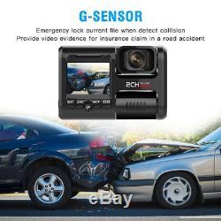 Wifi car dvr video recorder GPS dash cam dual cameras full HD 1080P dash camera
