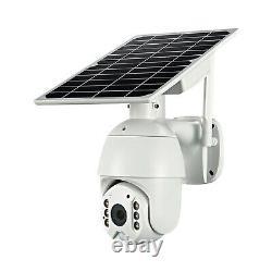 Wireless 4G Solar Camera Live Stream Wi-Fi PTZ CCTV Video Recorder Night Vision