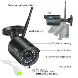 ZOSI 2MP Wireless Security Camera System System 8CH 1080P DVR Recorder 2TB HDD