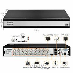 ZOSI H. 265+ 16 Channel 1080p HDMI Hybrid DVR Recorder for Security Camera System
