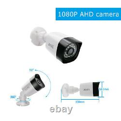 Zoohi 2.0MP AHD Home Security System P2P Outdoor 1080P HD Camera CCTV Waterproof